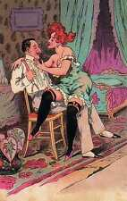 Riproduzione Cartolina Ose' 1900 Francia  Avventure amorose di un gagà (2)