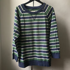 Very cool Band of Outsiders blue green stripe Sweashirt Made in Italy US 4
