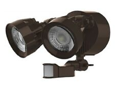 SATCO 65-094 24W DUAL HEAD SECURITY LED LIGHT W/ MOTION SENSOR (BRONZE) 4000K