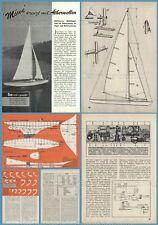 Bauplan ferngesteuertes Modellsegelboot MÖWE - Original von 1959