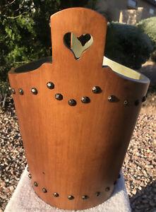 Tell City Wooden Bucket Nail-Head Trim Vintage Maple Pattern 3131 Finish 48