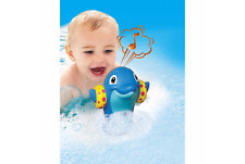 Tomy Aqua Fun Water Whistlers Dolphin Bath Toy - Blue or Pink 12 Months+