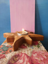 Oak Wood Star Candle Holder Tealight Candle Decor Handmade Party Home Decor