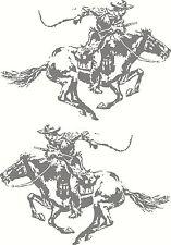 WINCHESTER Horse Ammo Box Mirrored Sticker Decal Set 172 x 120mm each