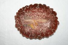 """Vintage 7"""" Long Souvenir Burwood Niagara Falls Tray Leaf Border Wood Composite"""