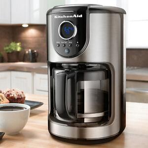 KitchenAid KCM111OB Digital 12-Cup Glass Carafe Coffee Maker 24-Hour Programming