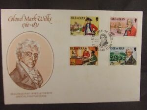 Stamps FDC, Isle of Man P.O. 'Colonel Mark Wilks' 1981