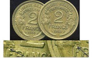 2 F MORLON  1933  ( VARIETE  le 2 maigre )  ( bis )