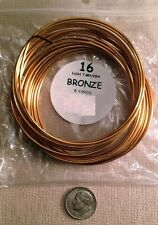 Non tarnish bronze plated copper round wire 16 ga 5 yards(15 feet) pw006