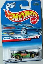 Hot Wheels 1998 First Editions 18/40 Mustang Cobra #655 Ford Gold Laced Wheels