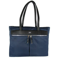 "Knomo London Womens Mayfair Collection Grosvenor Square 15"" Tote Bag, Navy"