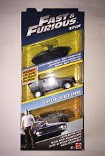 Mattel Fast & Furious Custom Mission 3 Pack Ripsaw, Downhill Buggy & Flip Car