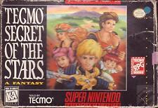 SNES SUPER NINTENDO Game:  TECMO SECRET OF THE STARS - Boxed - RPG - RARE CIB