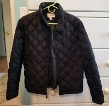 St. Johns Bay Feather Down Coat Black Size Large