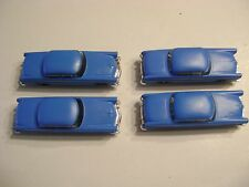 Lionel 6414 Autos Med. Blue Madison Hardware Original Autos w/chrome bumpers- 4