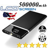 500000mAh Power Bank Portable 2USB LED External Battery Charger for Cell Phone