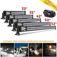 "22""32""42""50""52"" Dual Row LED Light Bar Spot+Flood Combo Projector Beam 12V/24V"