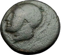 Akarnanian League Akarnania 250BC Athena River-God Archelous Greek Coin i60907