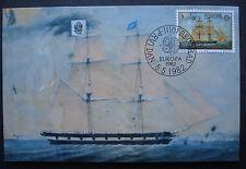 Jugoslawien 1982:Maximumkarte MK Europa-Historische Ereignisse Schiff MN 1920