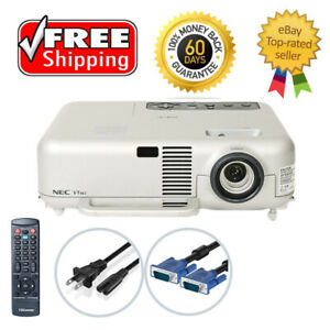 Refurbished NEC VT465 3LCD Projector Portable HD 1080i w/Accessories TeKswamp