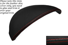 RED STITCH SPEEDO HOOD LEATHER SKIN COVER FITS AUDI R8 2007-2014