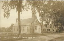 Hiram ME Universalist Church c1910 Real Photo Postcard