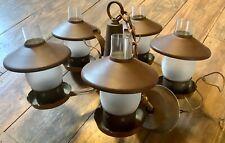 VTg Light fixture Brass copper Ceiling CHANDELIER shades hanging wagon wheel