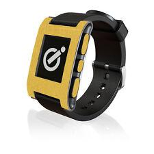 Effetto oro spazzolato pelle da iCarbons per il Pebble Smartwatch