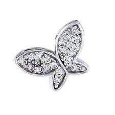 Sterling Silver Jeweled Butterfly Pendant  w/ Cubic Zirconia Stones