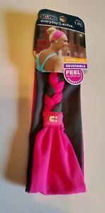 Scunci Everyday & Active Reversible Headband Pink/Gray & Black/White 2 Headbands