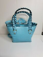 Dorothy Perkins turquoise hand Bag shoulder cross body faux snake skin hols work