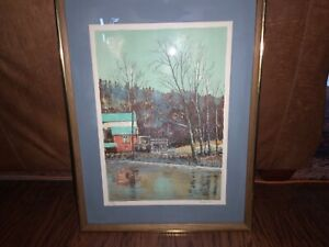 LUCIEN ARDENNE COLOR LITHOGRAPH WITH C.O.A. 153/275 FRAMED MATTED & SIGNED HTF