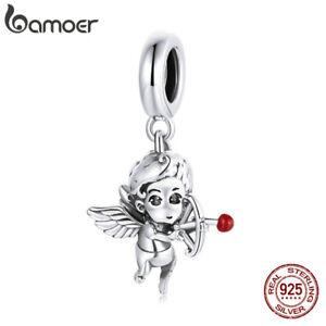 BAMOER European S925 Sterling Silver DIY Charm Love God Cupid Bead For Bracelet