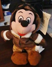 "The Disney Store Pilot Mickey 9"" bean bag plush figure-New-w/tag"
