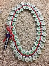 Handcrafted $50 Money Lei Bow Tie w/ beads Graduation,Wedding,Special Occasion.