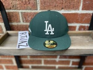 """F/W 2021 AIME LEON DORE x NEW ERA LOS ANGELES DODGERS """"GREEN"""" FITTED HAT 7 5/8"""