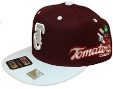 TOMATEROS DE CULIACAN HAT  2 LOGOS COLOR MAROON WHITE SNAPBACK ADJUSTABLE