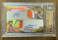 2019 SPECTRA RJ BARRETT CAM REDDISH ROOKIE DUAL PATCH GOLD AUTO /5 RPA ~BGS 9.5