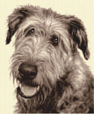 IRISH WOLFHOUND dog, puppy, Counted cross stitch kit + all materials