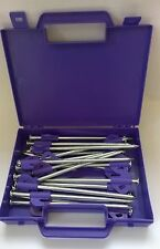 Heavy Duty Hard Ground Pro Tent & Awning Peg Rock Pegs Free Case Purple