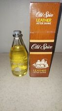 NOS OLD SPICE LEATHER AFTER SHAVE VINTAGE FROM SHULTON, INC. 1988 NO. 3565
