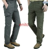 Mens Quick Dry Hiking Pants Zip Off Leg Casual Cargo Trousers Outdoor Overalls