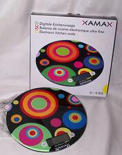 Küchenwaage Waage rund Design XAMAX bunt digital neu