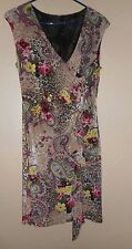 EUC MERCHANT FAUX WRAP DRESS  WOMEN'S -SIZE SMALL- SEXY-BEAUTIFUL FRILLY FRONT