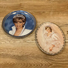 Lot 2 Princess Diana Collector Plates Bradford Exchange & Franklin Mint Nice