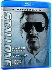 Stallone: Rambo - First Blood / Cop Land / Lock Up (Blu-ray 3 disc) NEW