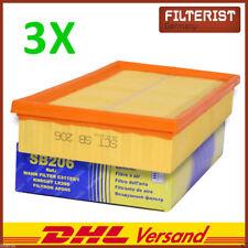 3x Luftfilter Motorfilter Audi 100 200 80 A6+Avant Coupe 1,6-2,8 + TDI