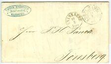 DENMARK/NORWAY: Unpaid cover Hamburg to Norway 1861. (7)
