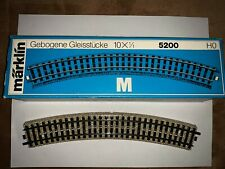 """Marklin 5200 """"M"""" Curved Track (10 pieces)"""