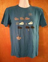 Mens Size Small S Nike Air Jordan Blue Graphic T-Shirt Basketball 23